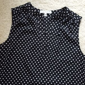 NWT Chaus Sleeveless Polka Dot Blouse